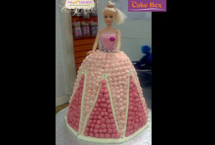 Pink Dress Doll Kids Cake