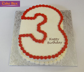 Red Number Cake