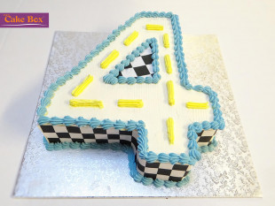 Racing Track Number Cake