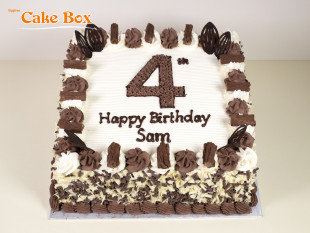 Chocolate Flakes Number Cake