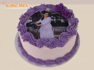 Purple Photo Cake