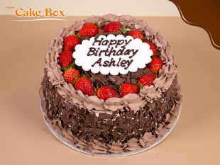 Chocolate & Strawberries Birthday Cake 3