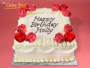 Classic Birthday Cake Red & Pink