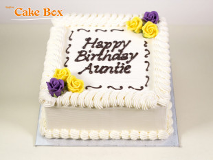 Classic Birthday Cake Purple & Yellow