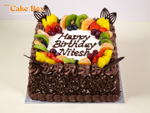 Chocolate Birthday Cake Fruits 4