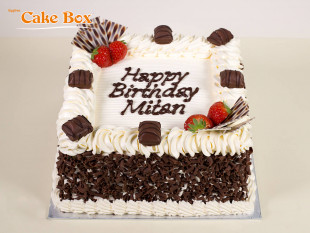 Chocolate & Strawberries Birthday Cake 6